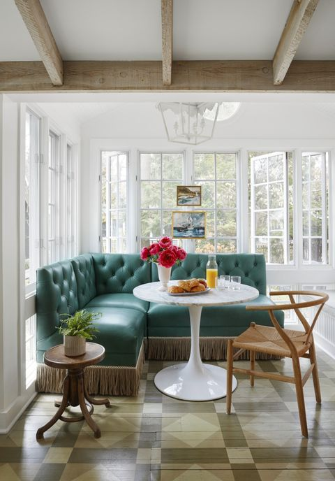 breakfast nook ideas upholstered booth