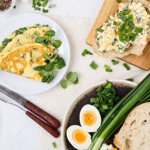 Dish, Food, Cuisine, Meal, Ingredient, Brunch, Breakfast, Comfort food, Egg salad, Produce,