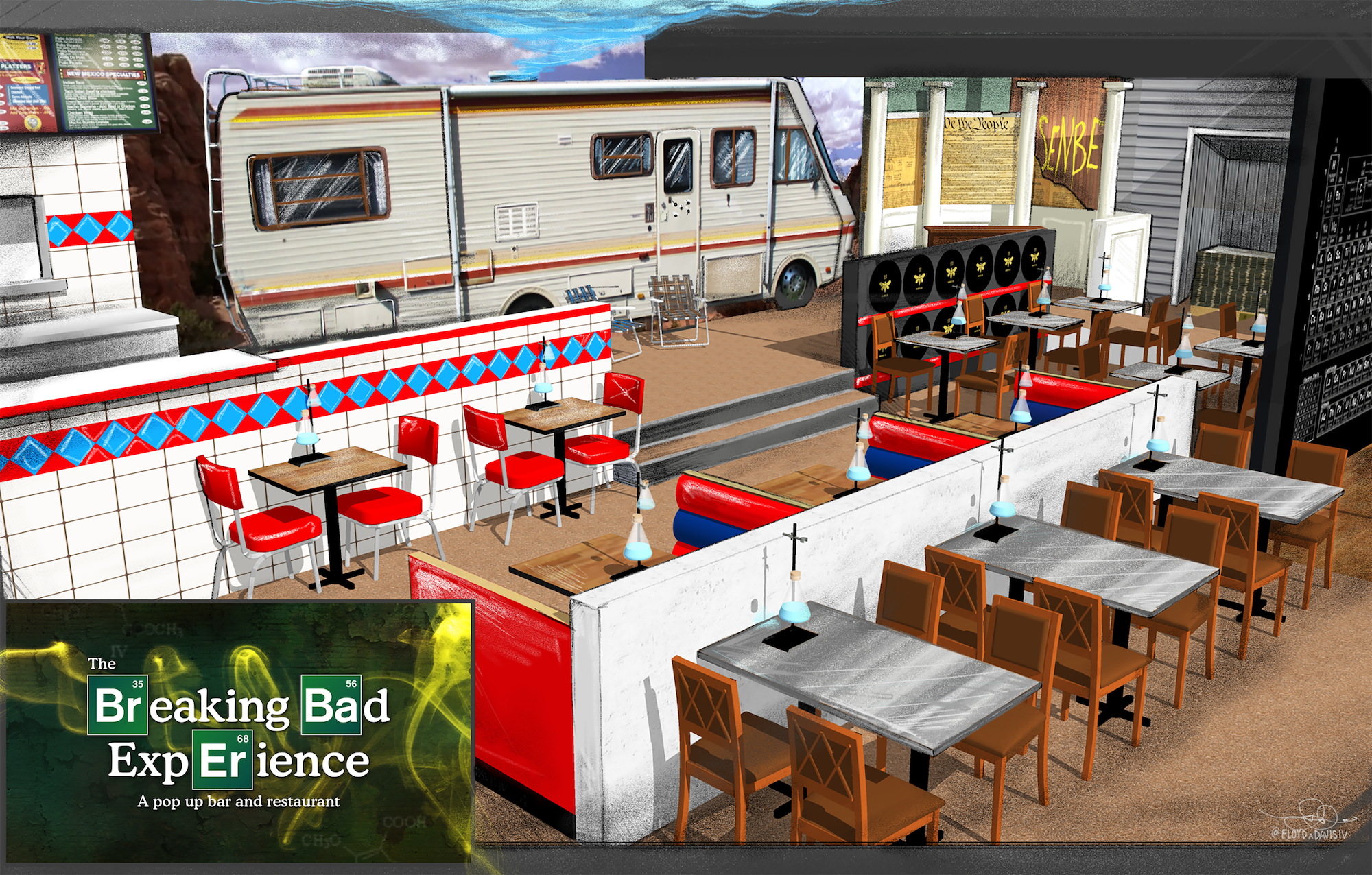 You Can Eat Heisenburgers And Make Your Own Cocktails At This Breaking Bad Pop-Up Bar