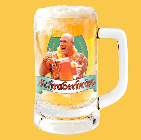 Beer glass, Drink, Drinkware, Beer stein, Pint glass, Mug, Beer, Orange soft drink, Ice beer, Lager,