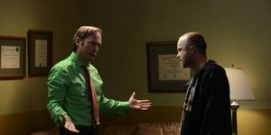 Breaking Bad: Saul Goodman (Bob Odenkirk) and Jesse Pinkman (Aaron Paul)