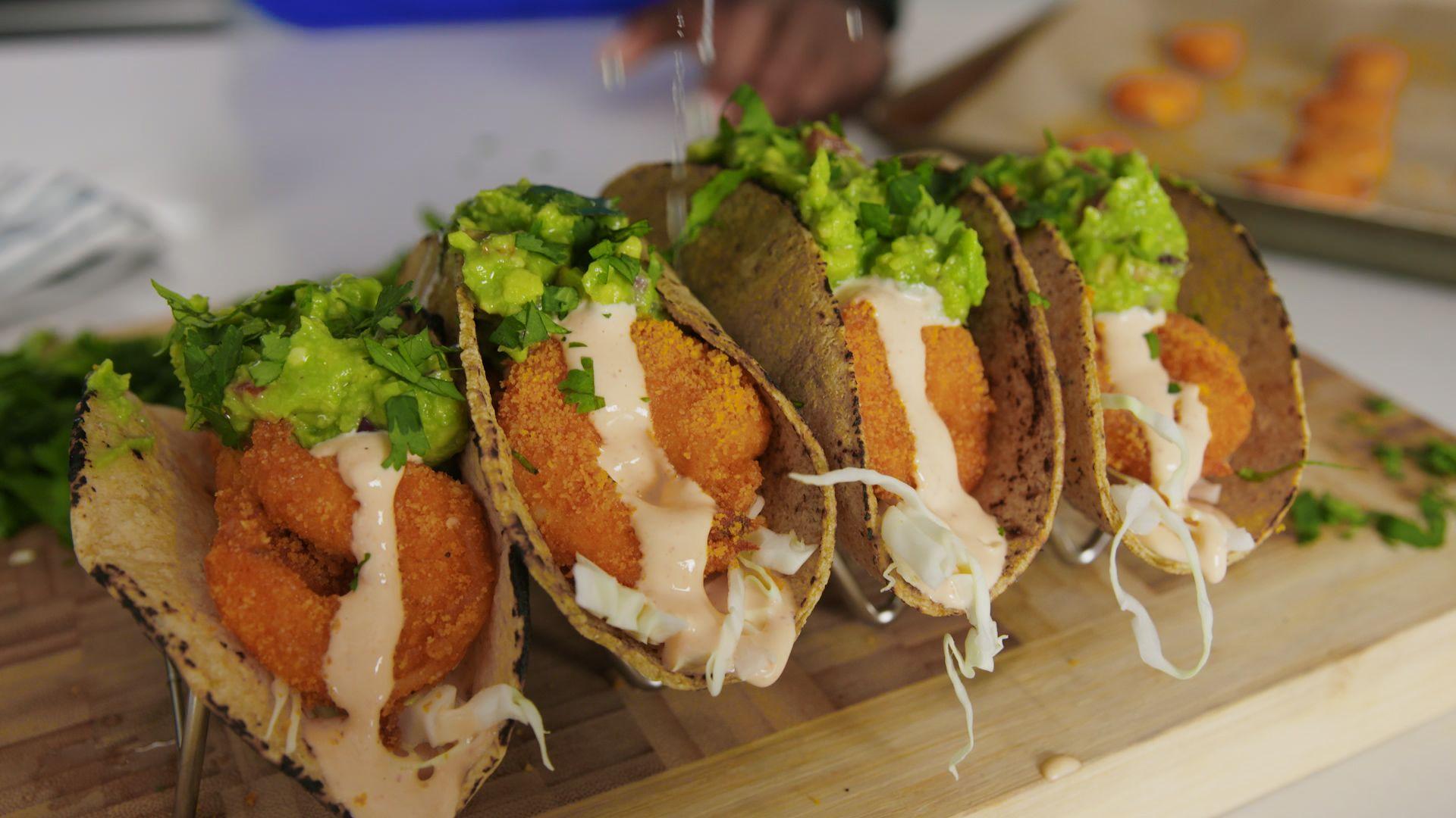 Gluten-Free Bang Bang Shrimp Tacos