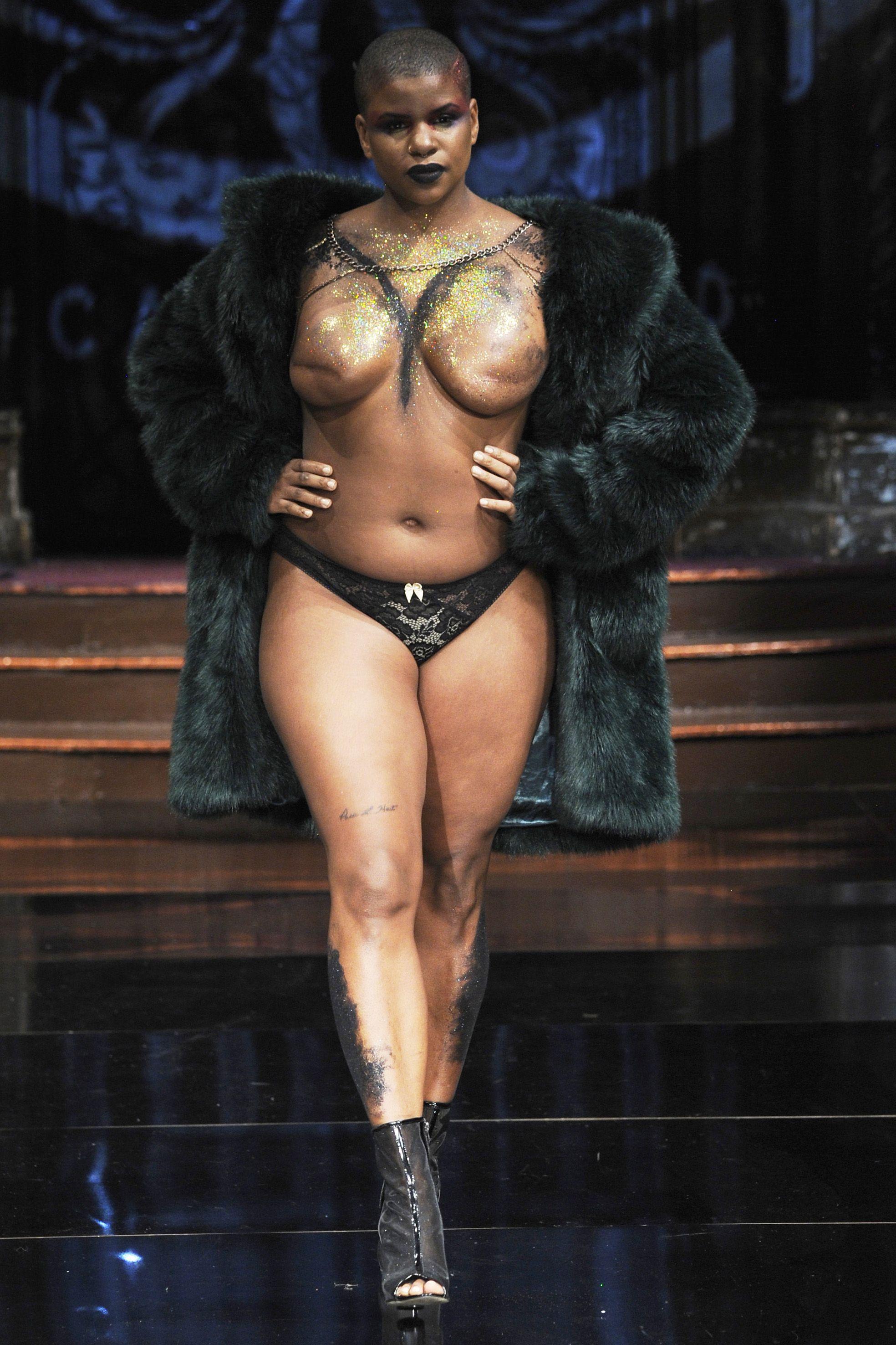 Runway naked shows models