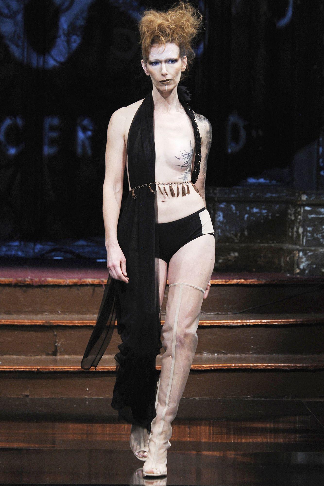 Topless fashion show