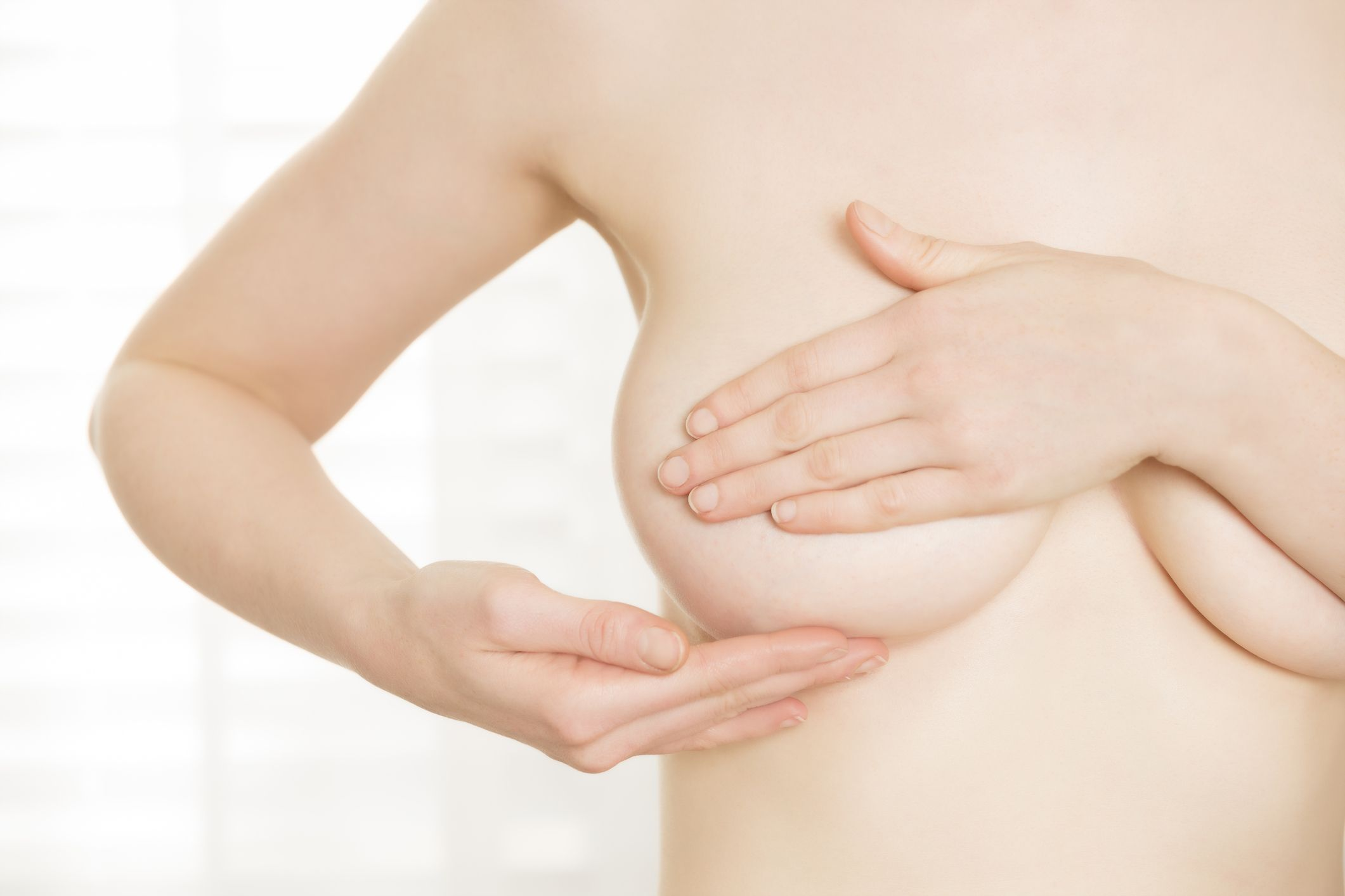 Muscle infection around breast and shoulder
