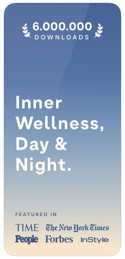 "Sky background with ""inner wellness day & night"" written on it"