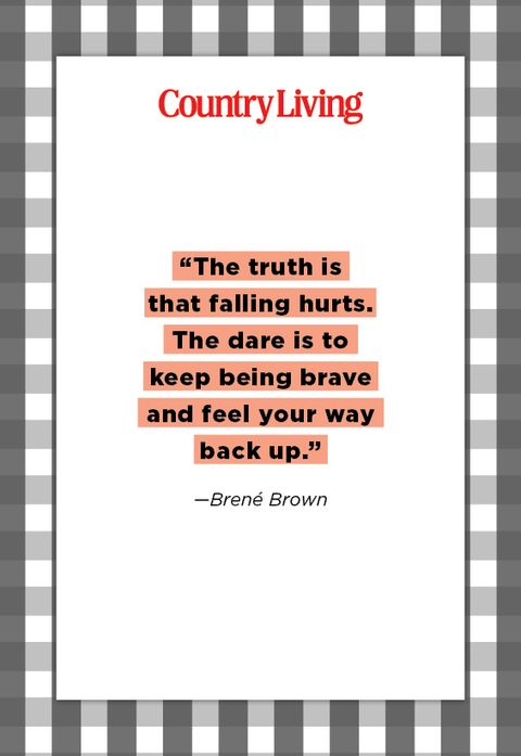 quote from brene brown about being brave