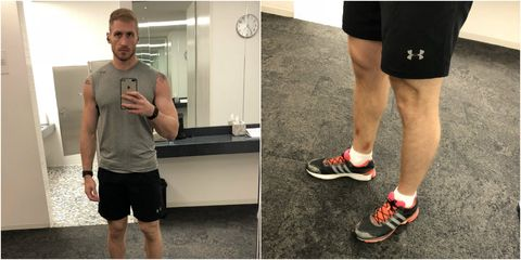 Human leg, Leg, Calf, Joint, Knee, Shoulder, Arm, Ankle, Muscle, Standing,