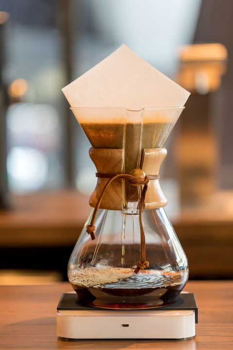 bangkok, thailand   jan 18, 2018  brewing third wave coffee with chemex glass in the coffee shop chemex coffeemaker is a manual, pour over style glass container coffeemaker