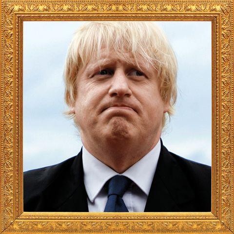 Boris Johnson in Gilded Frame