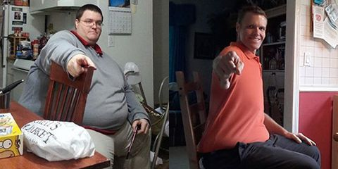 Brian Flemming before and after losing nearly 400 pounds