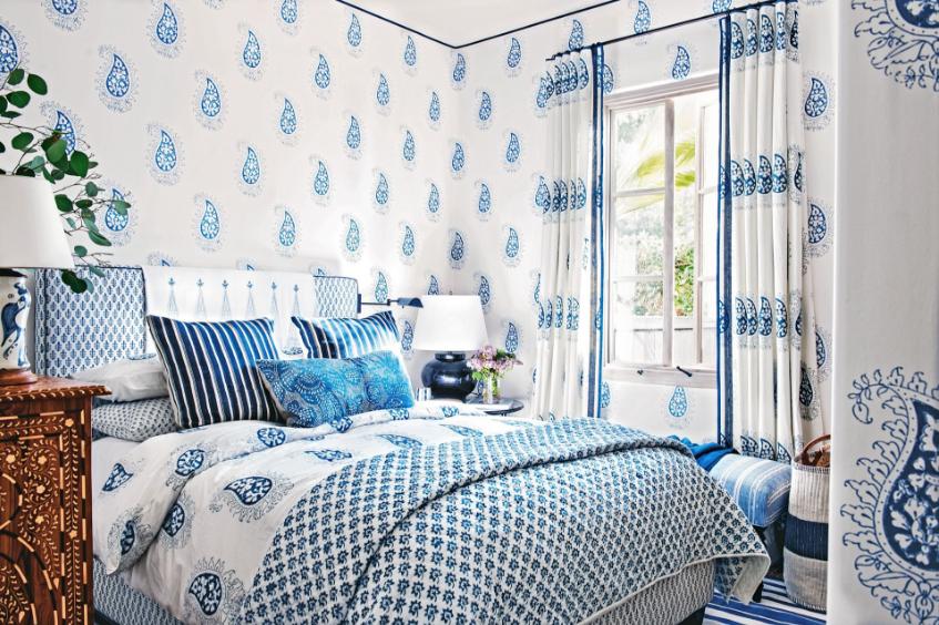 Delightful Paisley Bedroom
