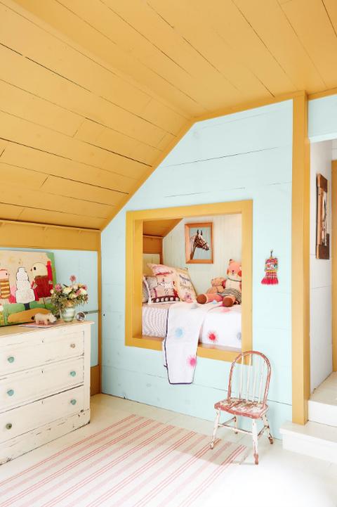 finished attic playroom