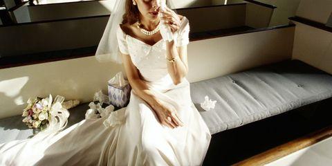 Wedding dress, Dress, Gown, Clothing, Bridal clothing, Shoulder, Bride, Beauty, Fashion, Bridal party dress,