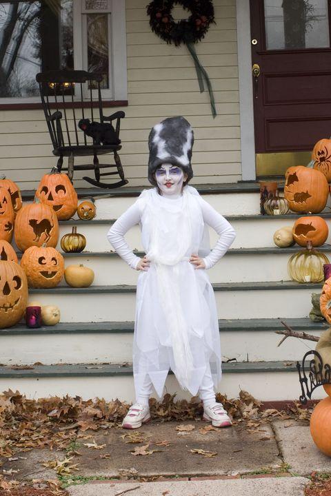 bride of frankenstein diy kid costume
