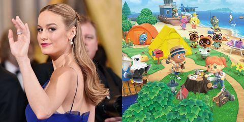 Brie Larson and Animal Crossing: New Horizons