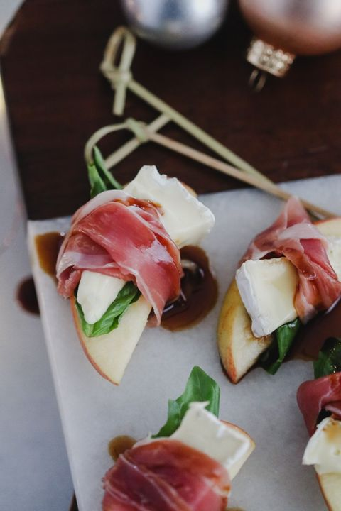 Food, Ingredient, Cuisine, Finger food, appetizer, Produce, Prosciutto, Salt-cured meat, Dish, Canapé,