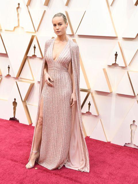 Brie Larson tijdens de Oscars 2020