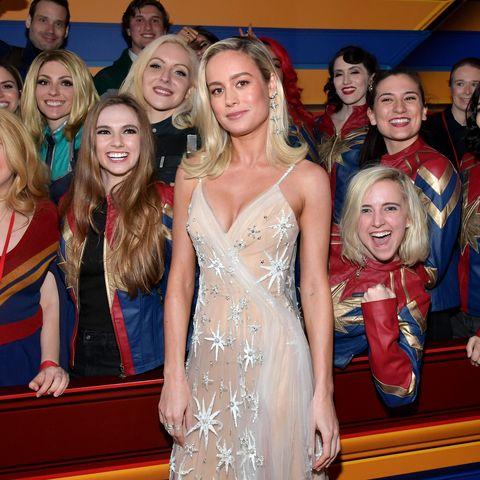 Brie Larson Attends 'Captain Marvel' Premiere, Red Carpet