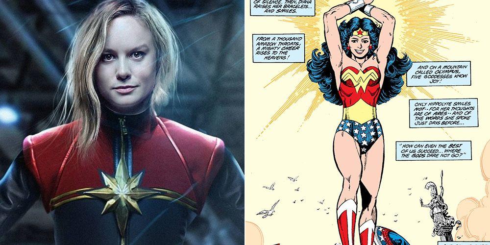 Capitana Marvel Wonder Woman