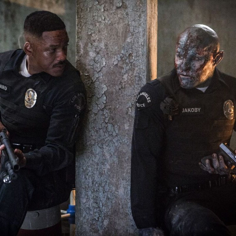 Bright On an Earth where humans live side-by-side with fantasy creatures, an LAPD officer (Will Smith) is partnered with an orc (Joel Edgerton) on a mission to save the world in this big-budget Netflix original film from Suicide Squad director David Ayer.