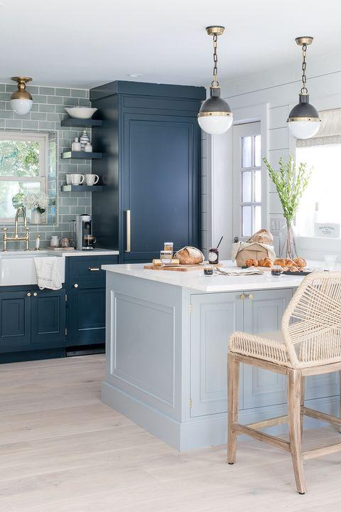 Furniture, White, Room, Kitchen, Countertop, Cabinetry, Interior design, Property, Tile, Floor,