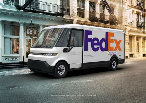 gm brightdrop ev600 electric delivery van fedex express