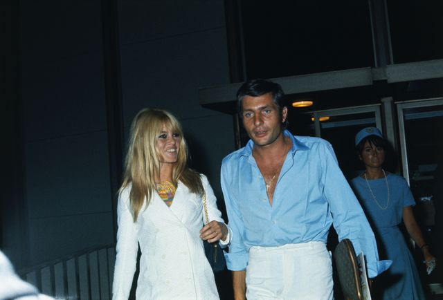 original caption french actress brigitte bardot and her new husband, german industrialist gunther sachs, leave los angeles international airport on a flight bound for papeete, tahiti, july 16th, for two weeks