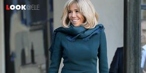 brigitte macron look vestito 2019