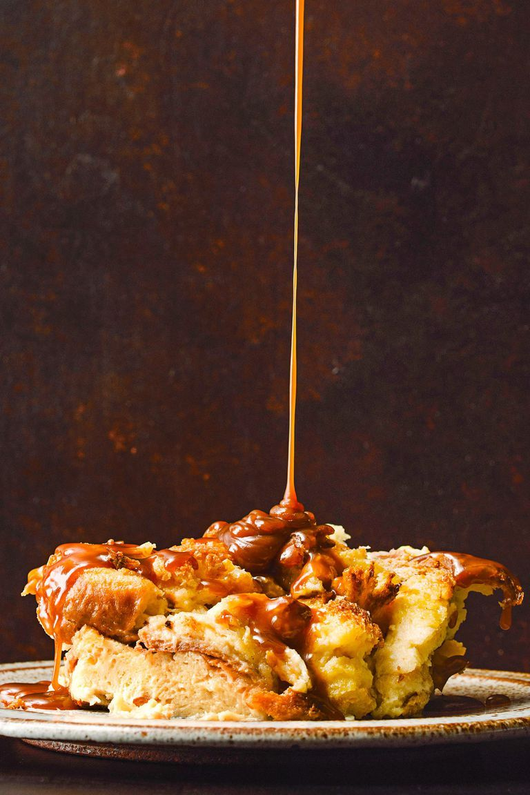 Brioche Bread Pudding with Bourbon Caramel Sauce - Christmas Desserts