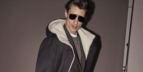 Fashion model, Clothing, Suit, Fashion, Eyewear, Formal wear, Outerwear, Model, Human, Coat,
