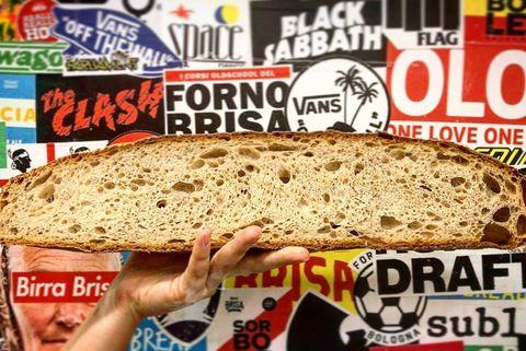 Food, Sourdough, Dish, Cuisine, Bread, Ingredient, Baked goods, Fast food, Gluten, American food,