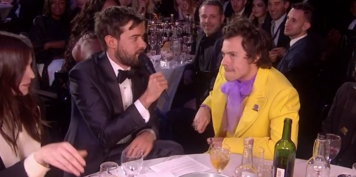 Jack Whitehall makes awkward gaffe during Harry Styles interview at the Brits