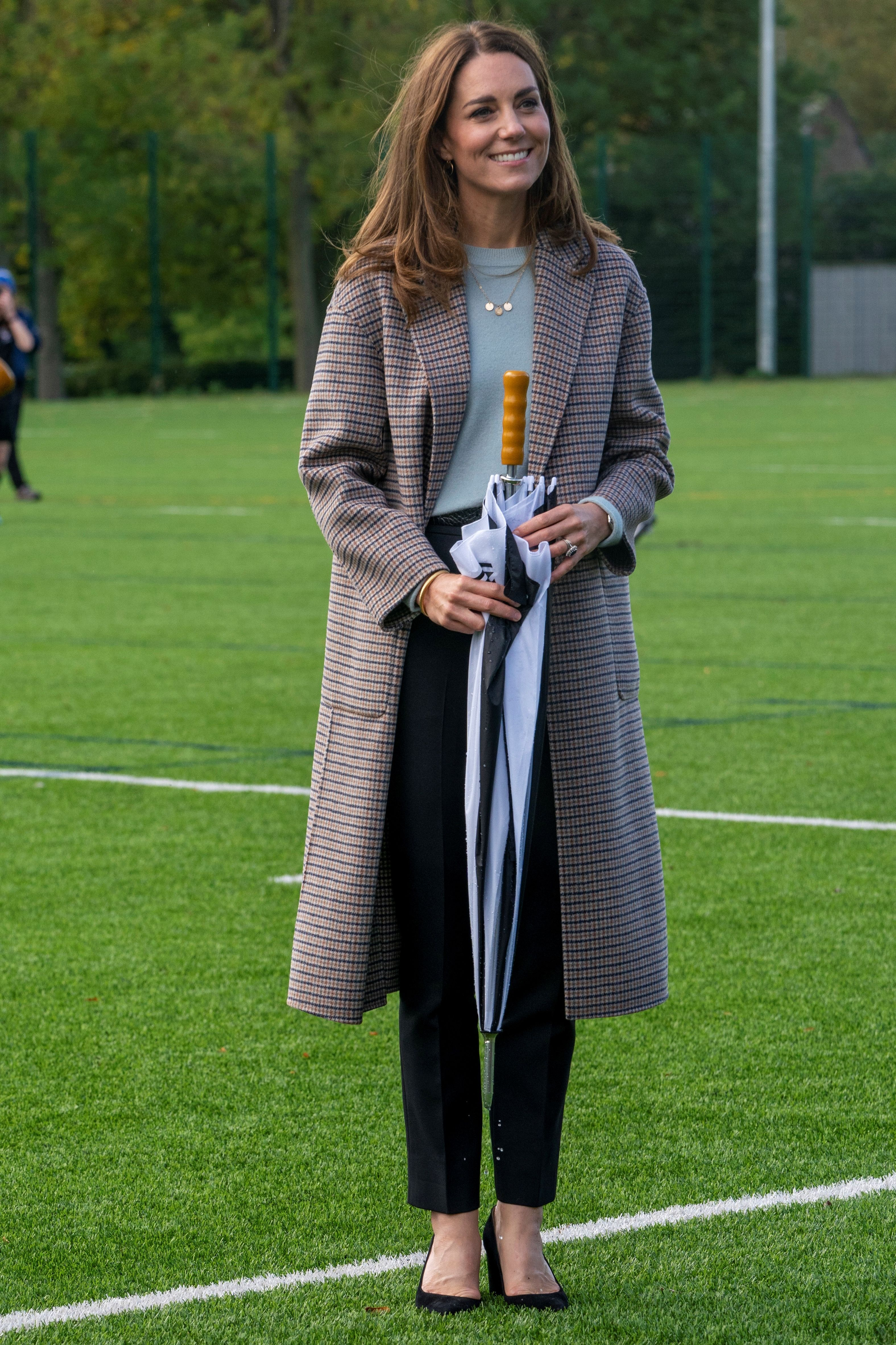 Kate Middleton Wears Fall-Appropriate Outfit for University Visit