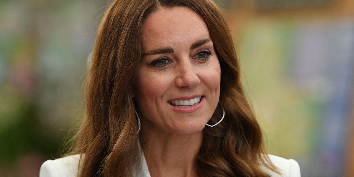 Kate Middleton Stuns in a White Blazer Dress at Eden Project Reception