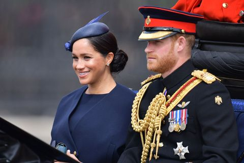 Meghan Markel Prince Harry Trooping the Colour 2019