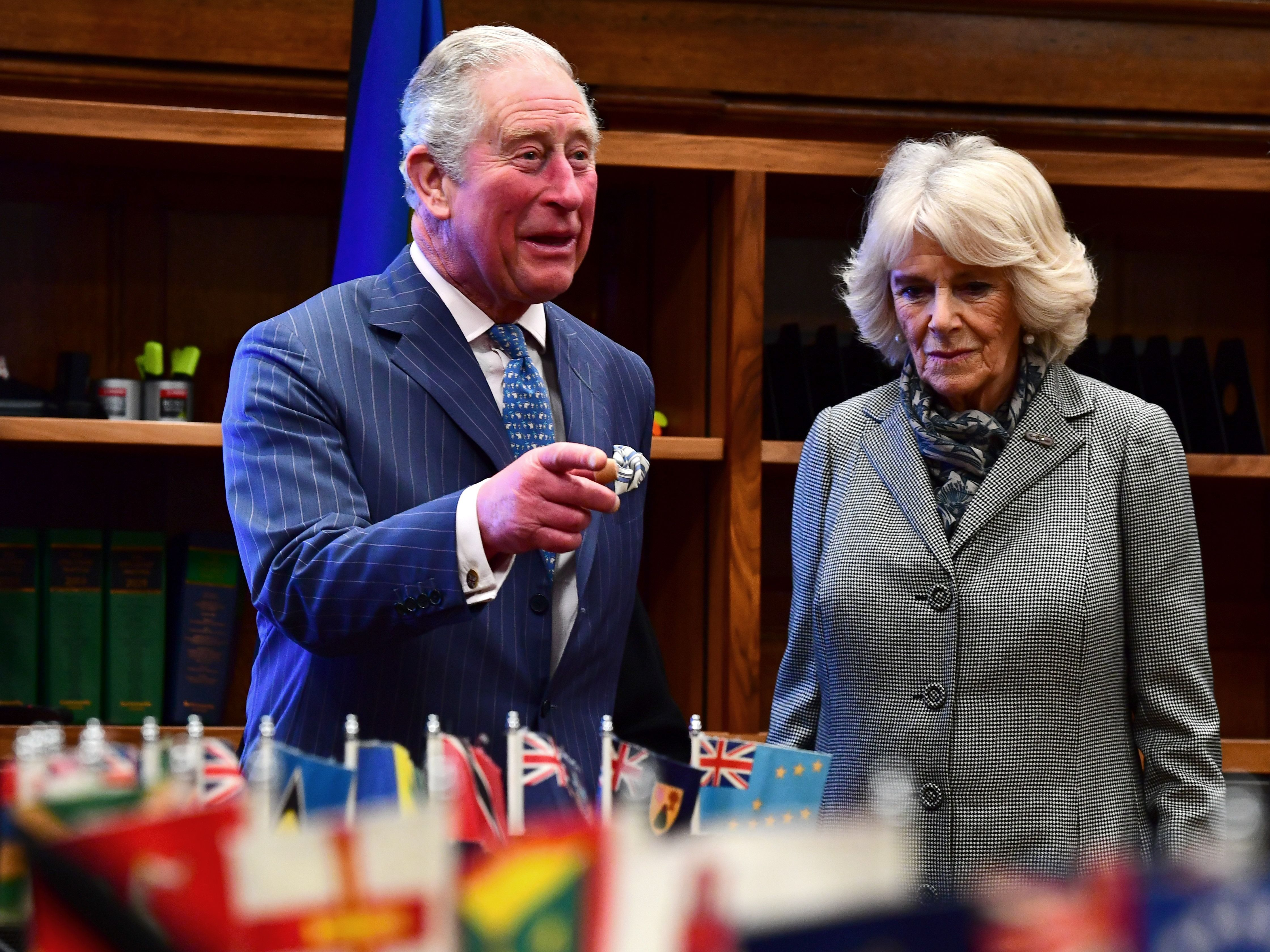 Charles and Camilla visit the Supreme Court.