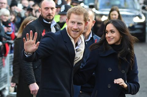 prince harry and meghan markle in december 2017