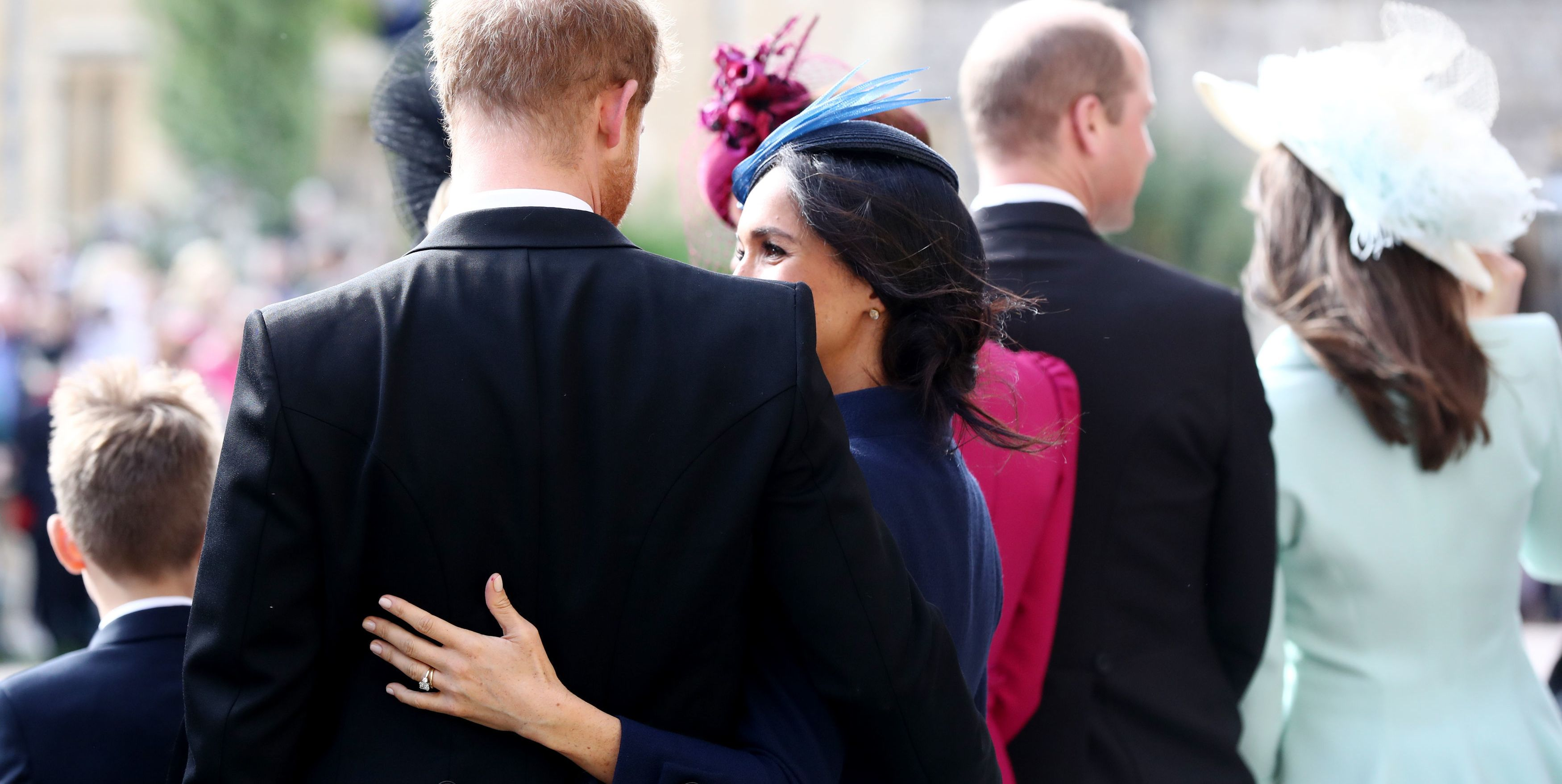 Meghan Markle and Prince Harry Showed a Lot of PDA Leaving Princess Eugenie's Royal Wedding