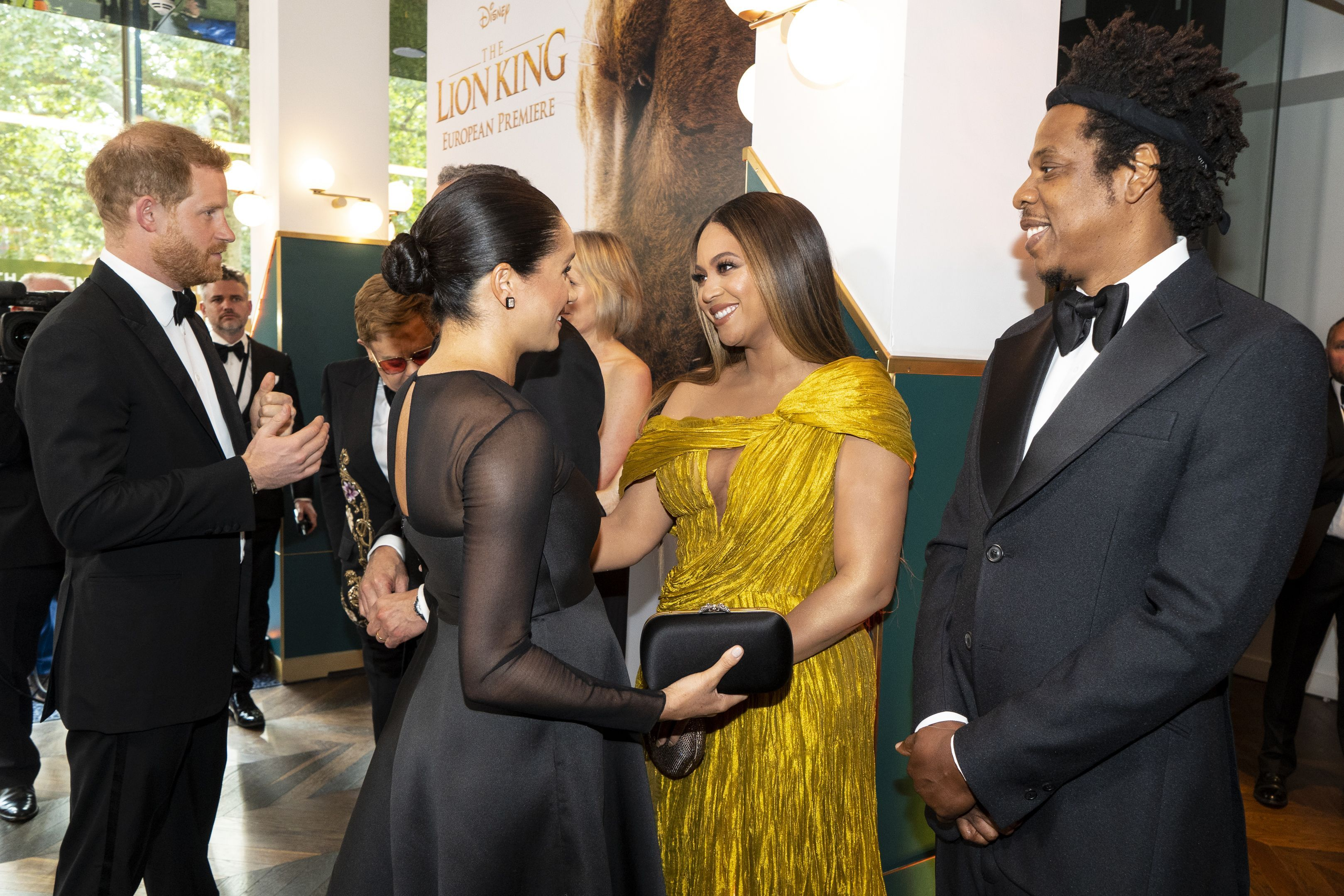 Meghan Markle and Beyoncé Hugged at The Lion King Premiere in London