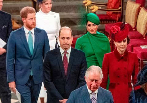 Meghan Markle and Prince Harry with the royal family