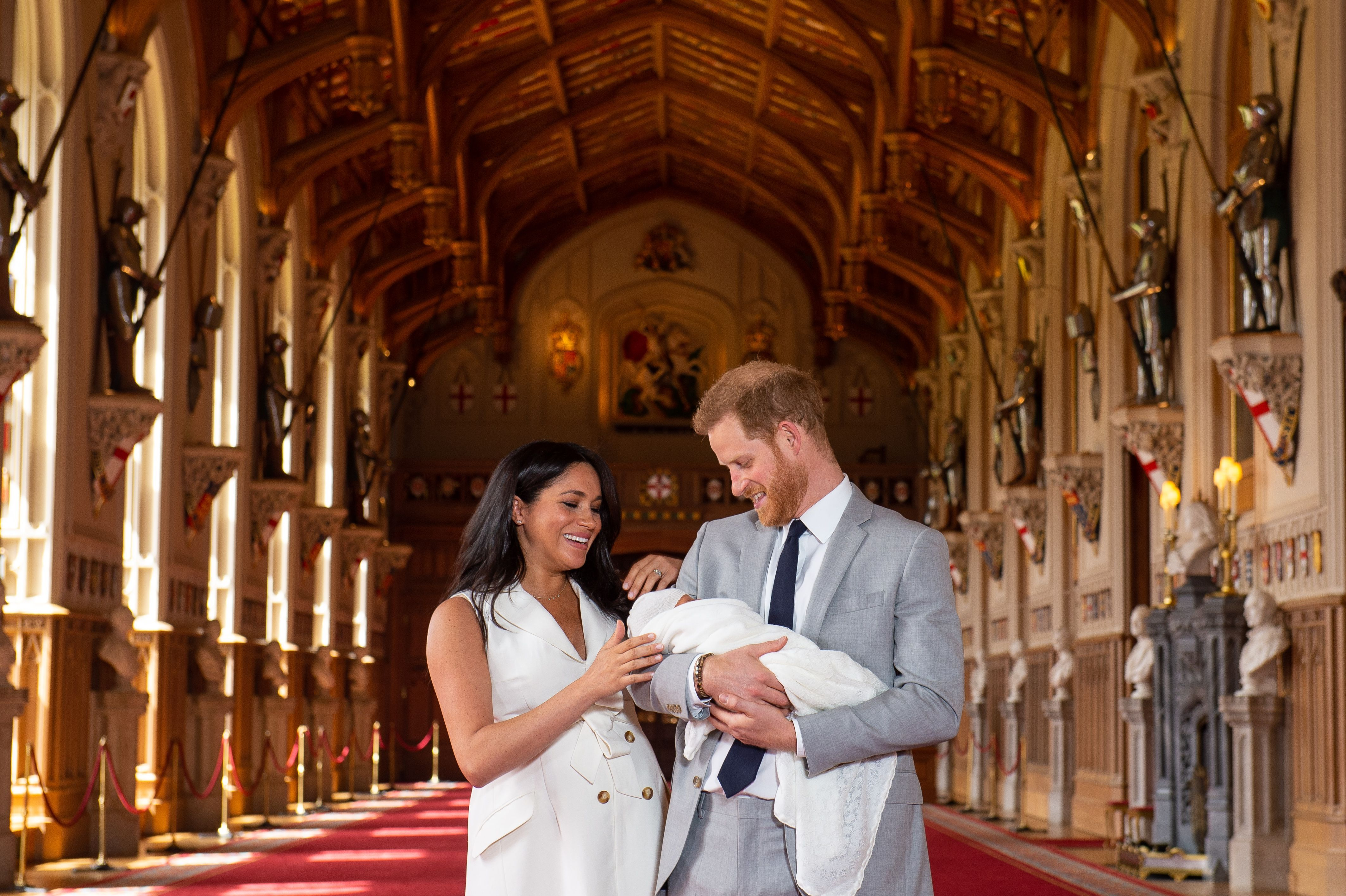 Image result for Prince Harry and Meghan reveal their newborn to the world