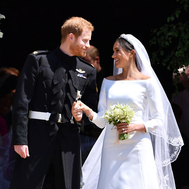 The Duke and Duchess of Sussex on their wedding day in May 2018.