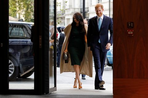 meghan markle green dress wellchild awards
