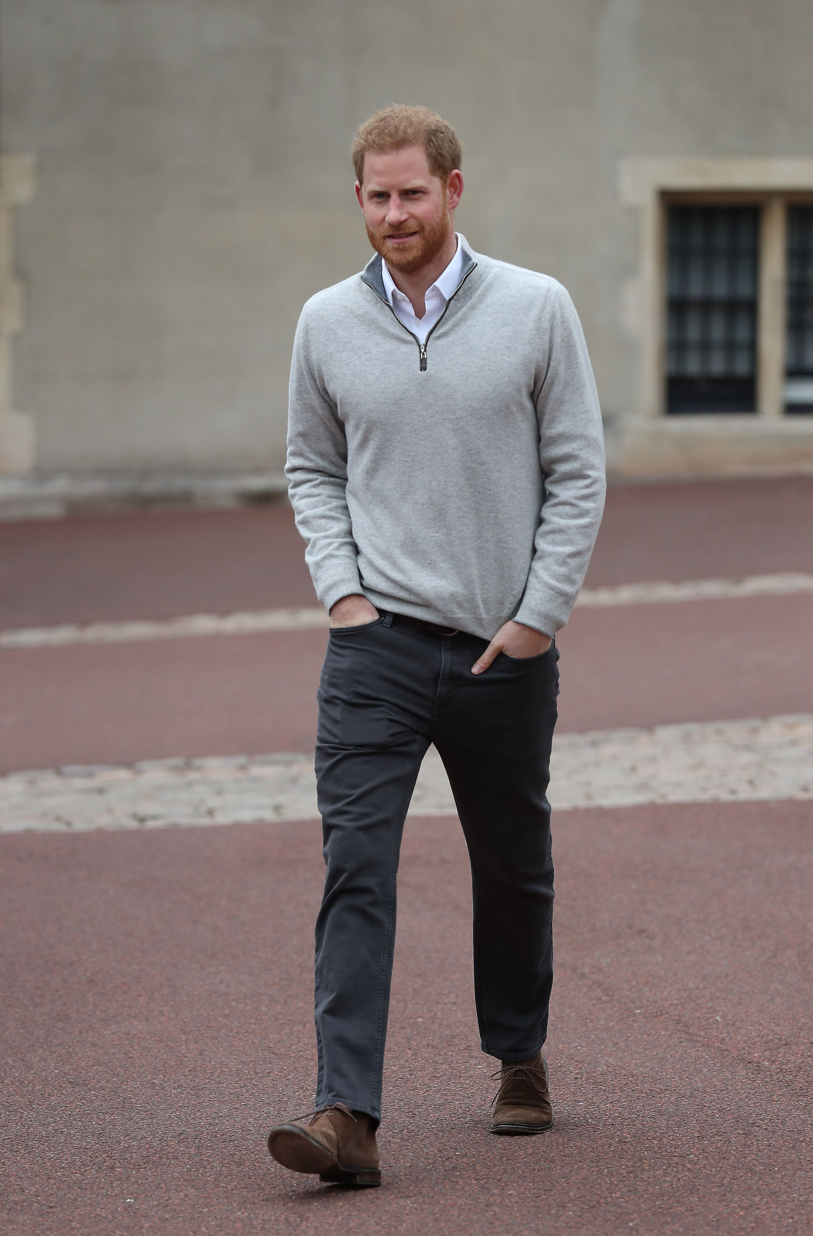 New Dad Prince Harry Announced His Son's Birth Wearing a Very 'Dad' Sweater