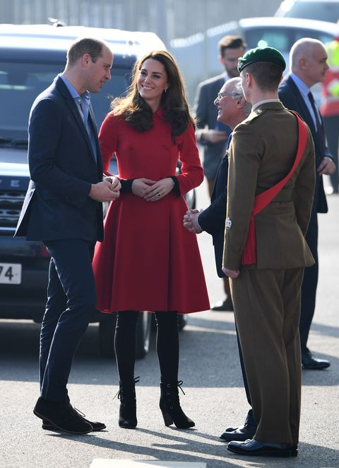 163198e533a28 Kate Middleton is radiant in a red coat for surprise Northern ...