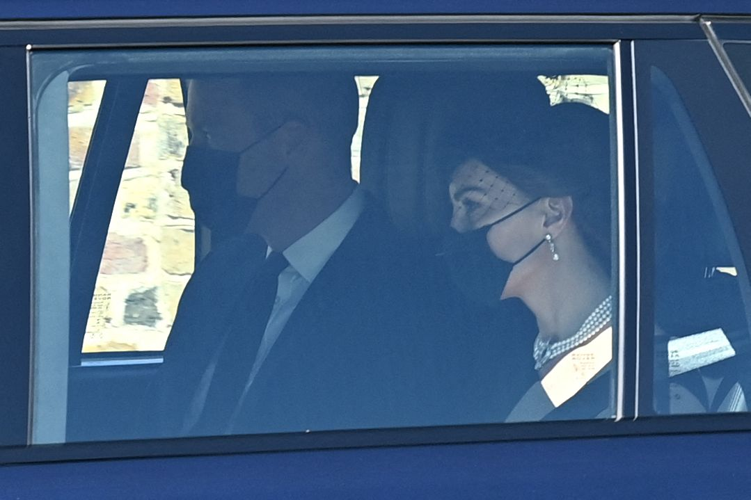 Kate Middleton Arrives to Prince Philip's Funeral