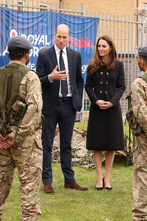 Kate Middleton Wears Military Coat Dress at First Event Post-Prince Philip Funeral