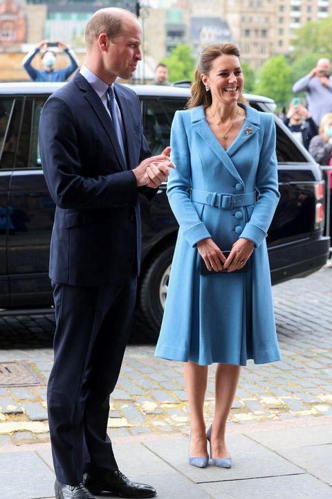 kate blue coat