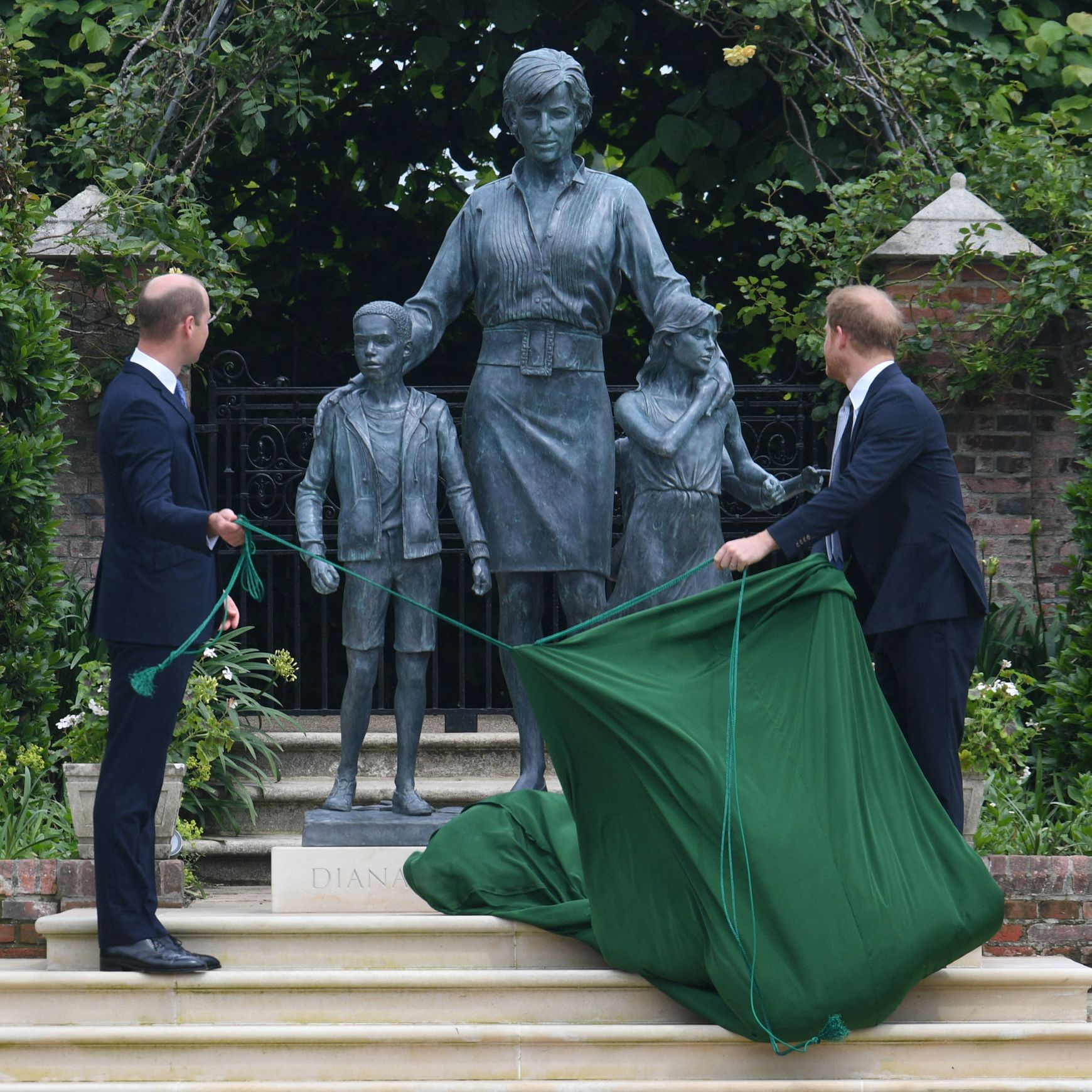 The Princess Diana Statue Unveiling Was an Emotional Moment as the Mood in Kensington Gardens Was Reflective